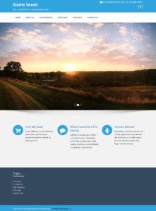 Website Design Mason City Iowa for Siems Seeds. Website For Siems Seeds designed by All Things Advertising of Mason City.