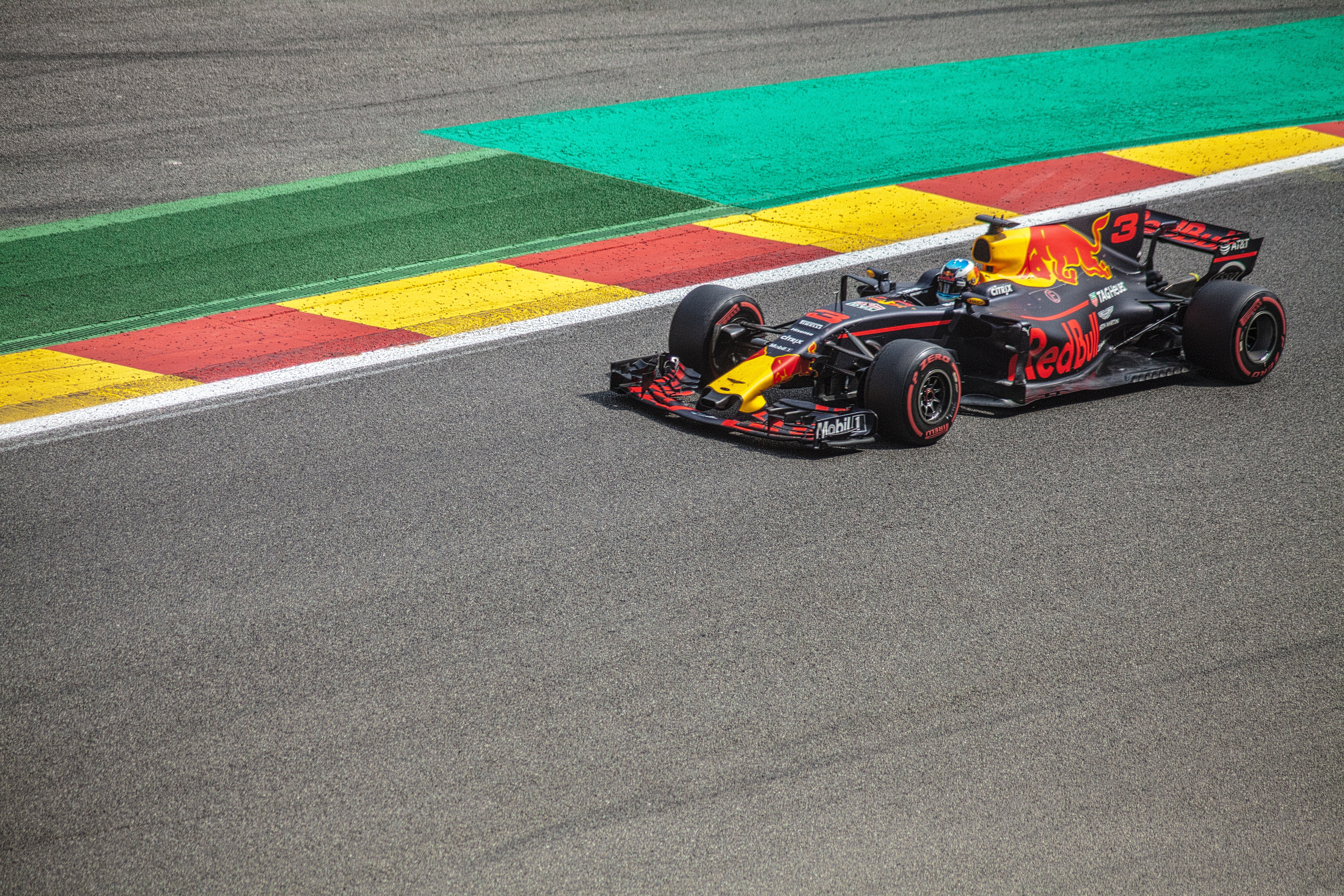 A formula one race car on a race track